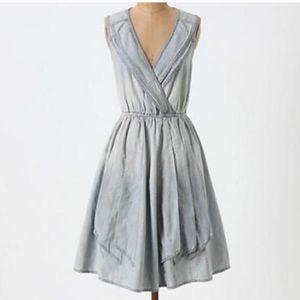Anthropologie Maeve distressed denim dress